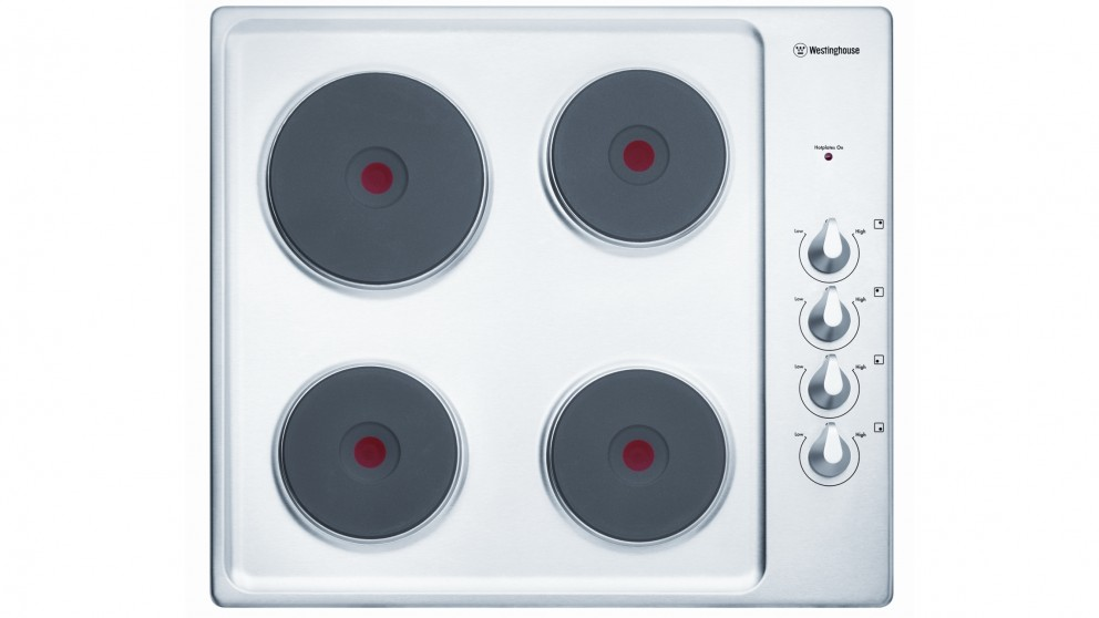 Westinghouse 600mm 4 Zone Stainless Steel Electric Cooktop