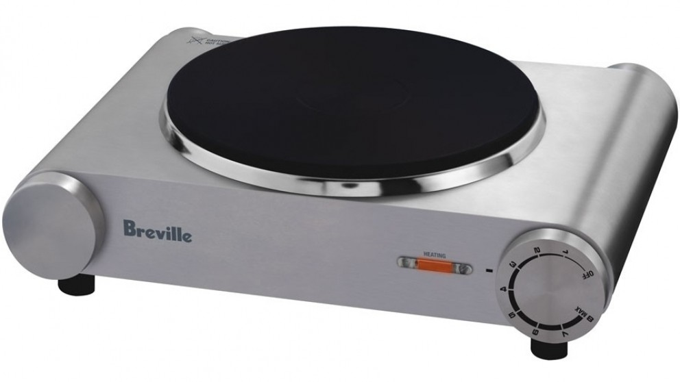 Breville Handy Portable Stainless Steel 1600W Hotplate   Cooktops    Appliances   Kitchen Appliances | Harvey Norman Australia