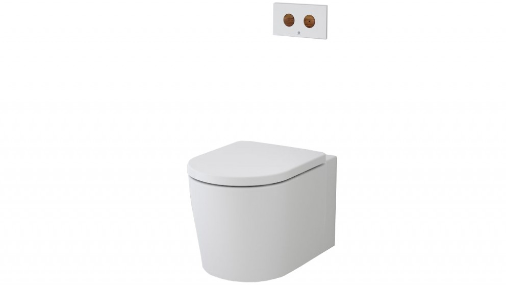 Caroma Elvire CleanFlush Invisi Series II Wall Hung Toilet Suite for Induct/Inceiling/Inwall Application
