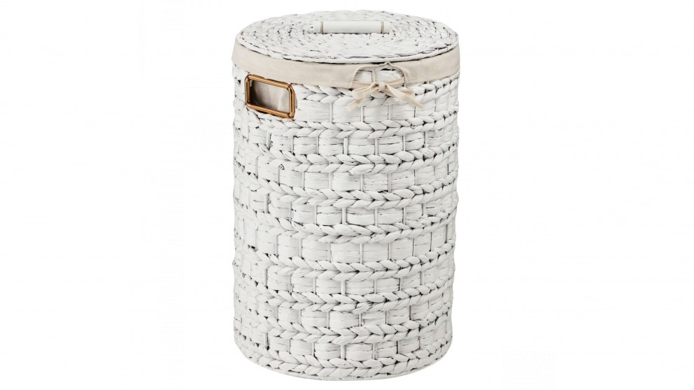Sally Small Laundry Basket - White