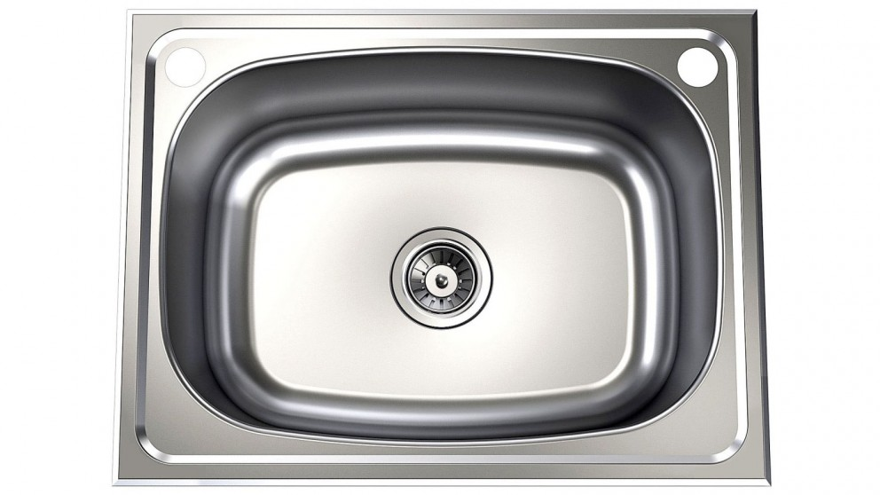 Clark Single 45L 2 Tap Holes Laundry Tub with By-Pass