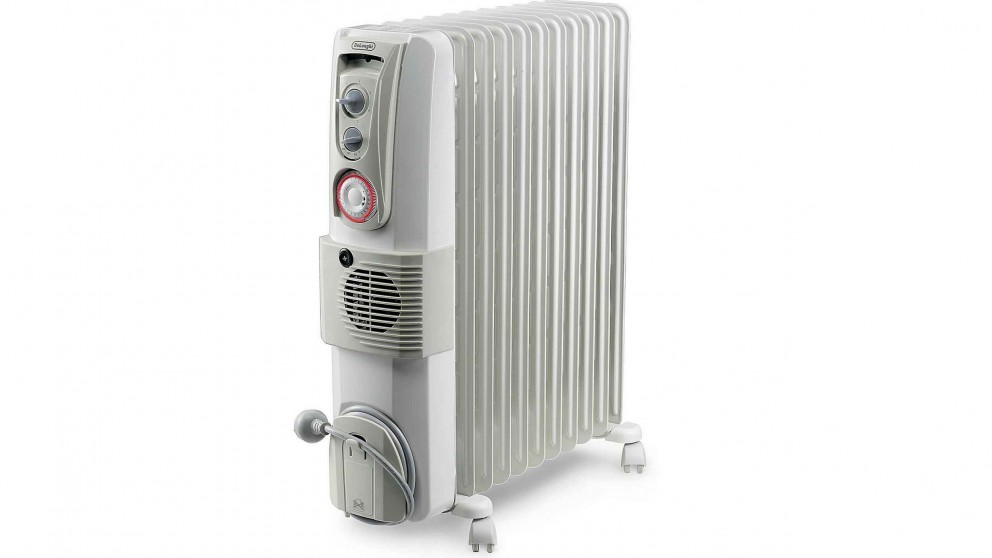 buy delonghi 2400w oil column heater with fan harvey. Black Bedroom Furniture Sets. Home Design Ideas