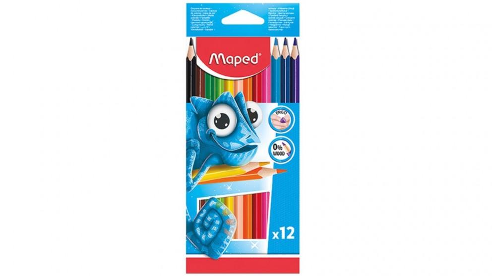 Maped 12-Piece Ergo Colour Pencils