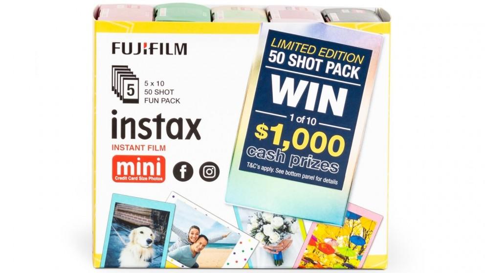 instax mini Film 50 Shot Mixed Novelty Fun Pack