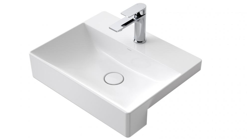 Caroma Urbane II Ceramic Semi Recessed Vanity Basin with 1 Tap Hole