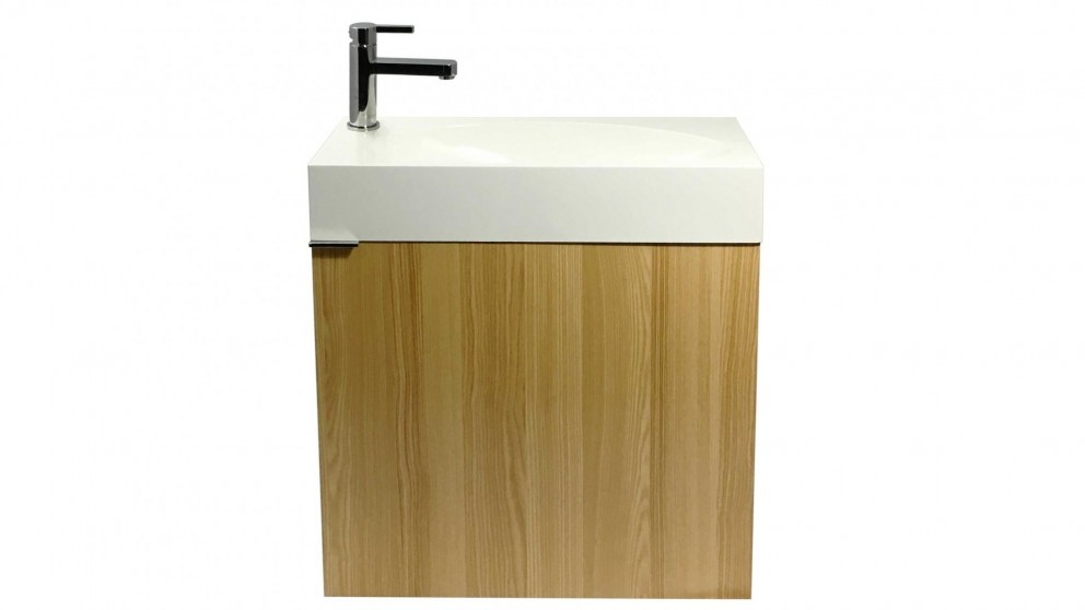 Parisi Smart 550mm Wall Mounted Vanity with Left Tap Hole - Oak