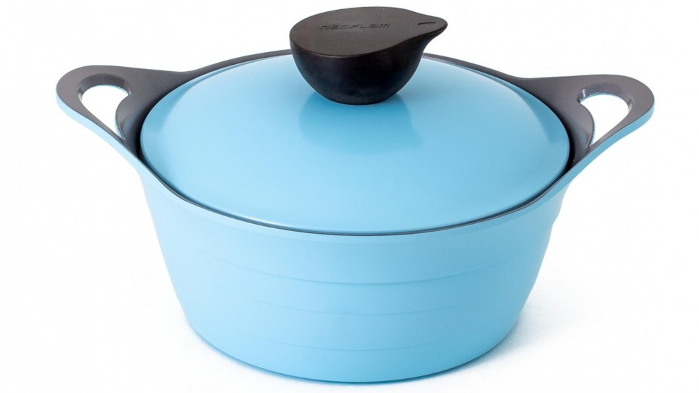 Neoflam Nature Chef Roca 20cm Casserole 2.4L Induction with Die Cast Lid - Light Blue