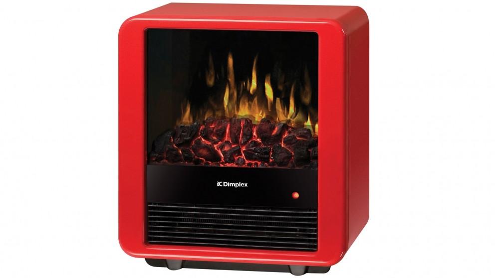 Dimplex 1500W Mini Cube Electric Fire Heater - Red