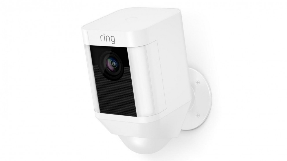 Ring Spotlight Cam Battery Security Camera - White