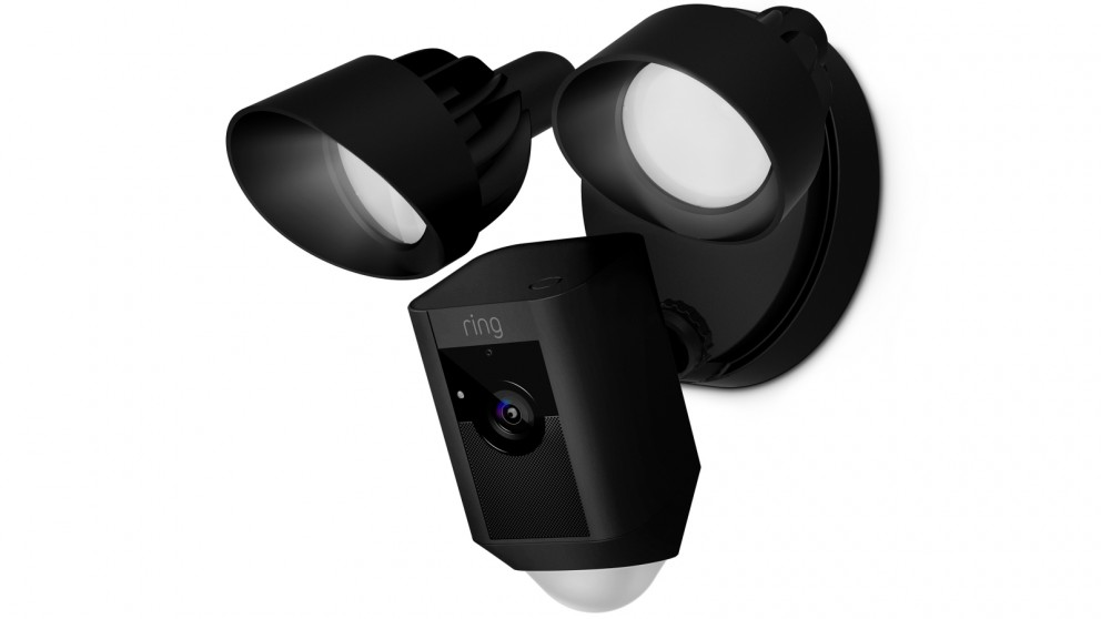 Ring Floodlight Outdoor Security Camera - Black