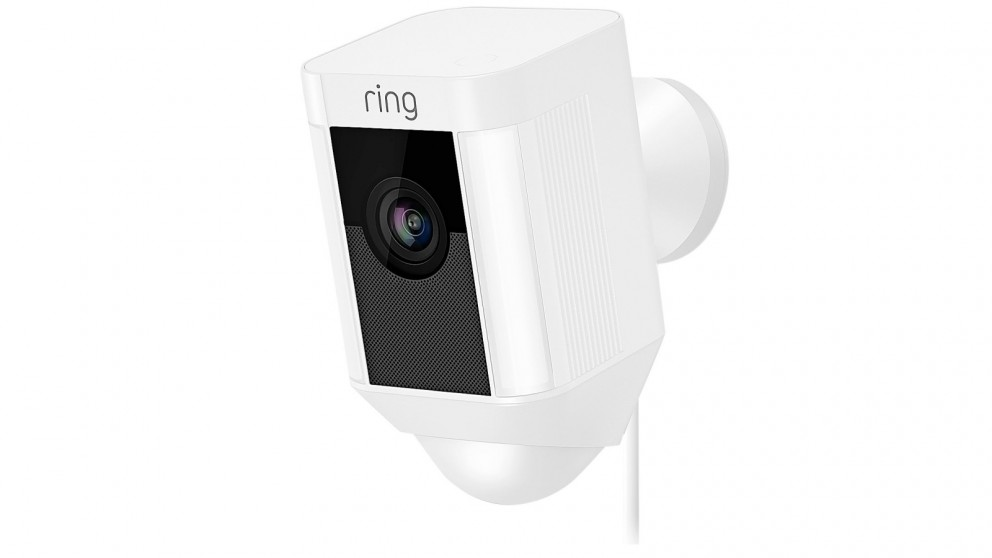 Ring Spotlight Cam Wired Security Camera - White