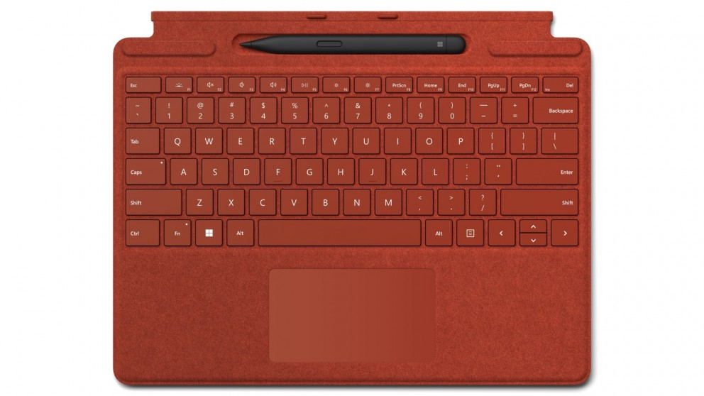 Microsoft Surface Pro Signature Keyboard (Poppy Red) with Slim Pen 2