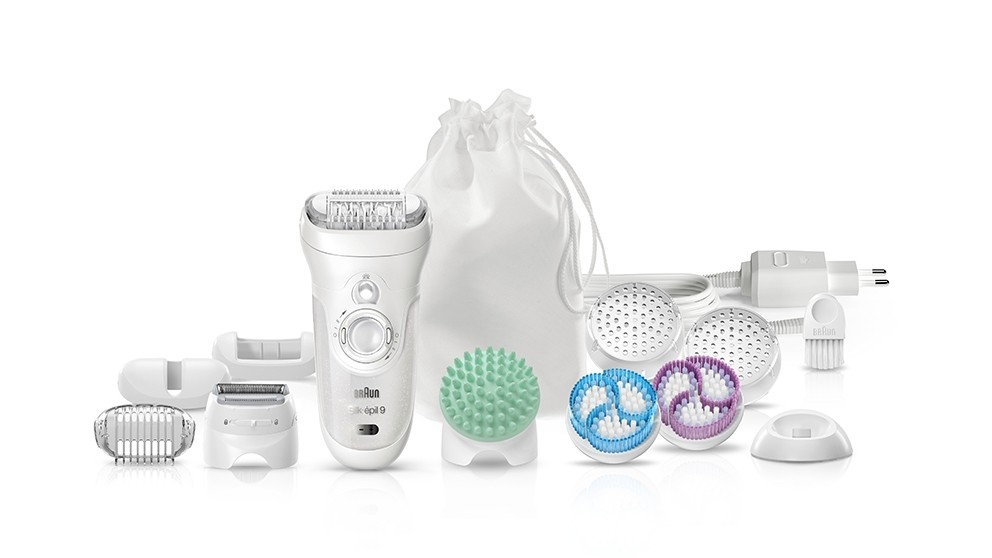 Braun Silk-Epil 9 Skin Spa 9-9961V Wet & Dry Epilator Beauty Set
