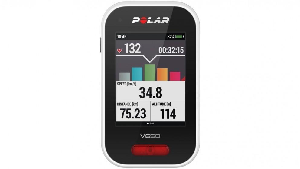 Polar V650 GPS Bike Computer - White