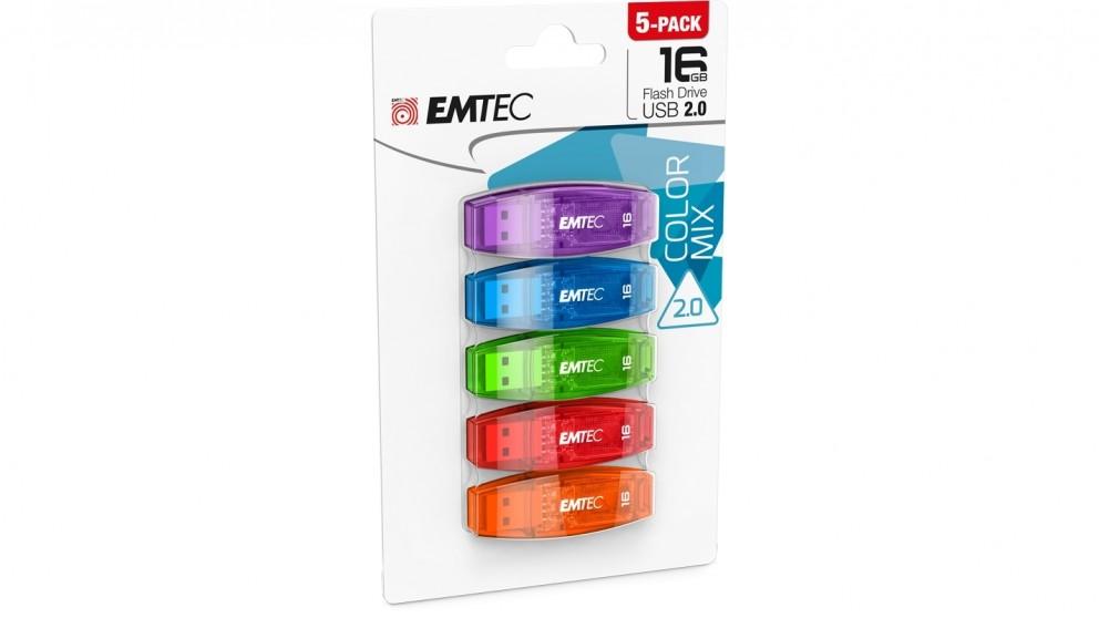 Emtec C410 5-Pack 16GB USB2.0 Flash Drive
