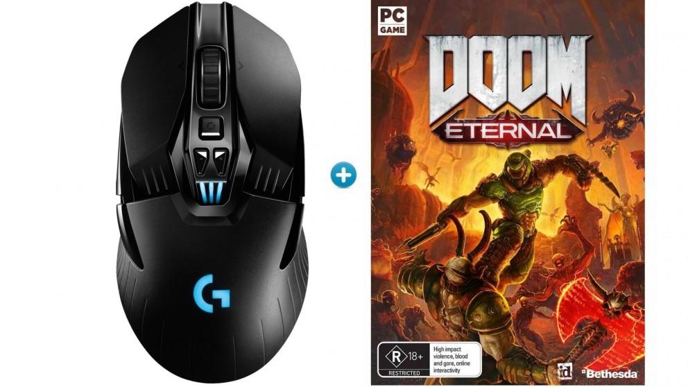 Logitech G903 Wireless Gaming Mouse + Doom Eternal Download Token Bundle