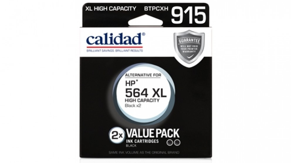Calidad HP 564 XL 2 Pack Black Ink Cartridge