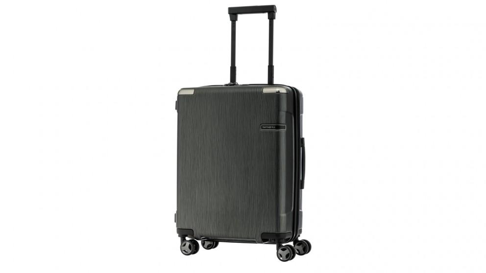 Samsonite 55cm Evoa Spinner Suitcase - Brushed Black