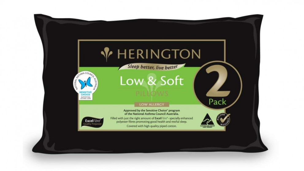 Herington Low and Soft Twin Pack Pillows