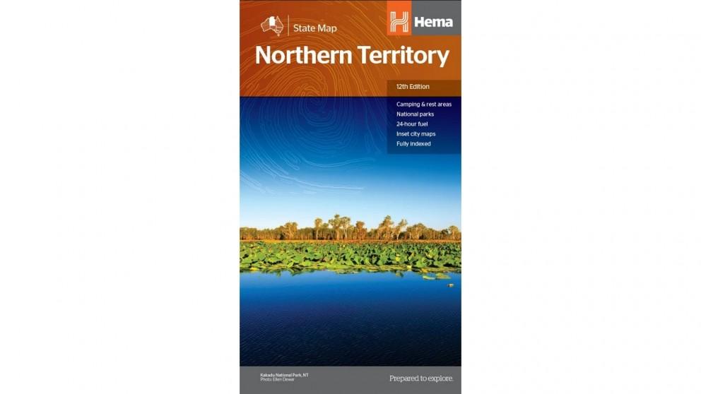 Hema Maps Northern Territory State Map (Waterproof/Tearproof Folded Paper)