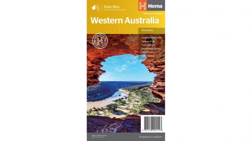 Hema Maps Western Australia State Map (Waterproof/Tearproof Folded Paper)