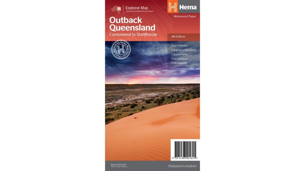 Hema Maps Outback Queensland Map - Folded