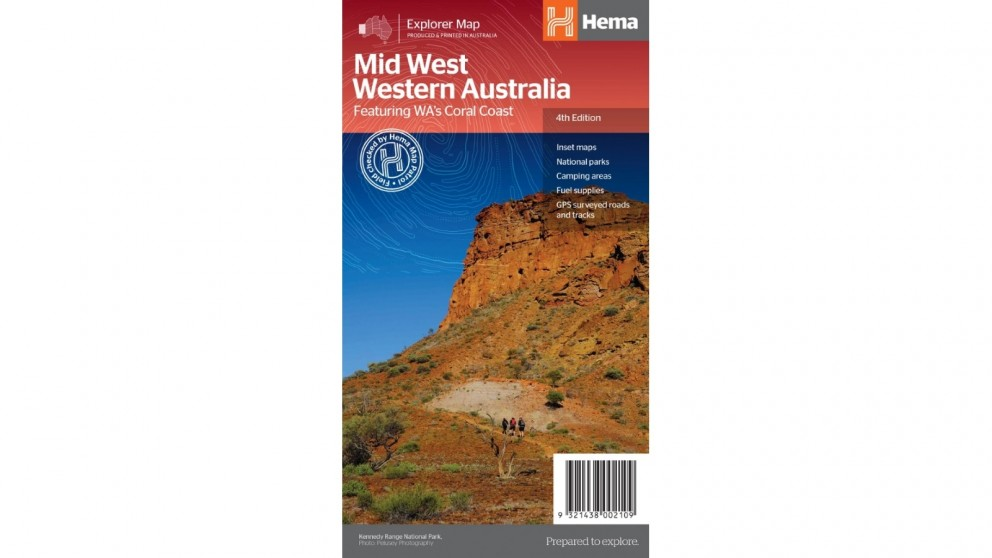Hema Maps Mid West Western Australia Map - Folded
