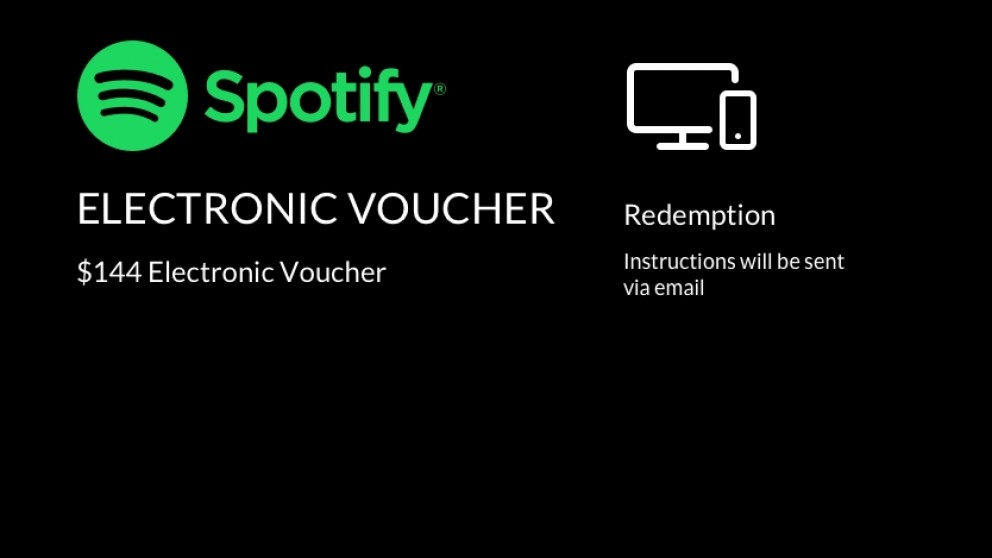 Spotify Electronic Voucher