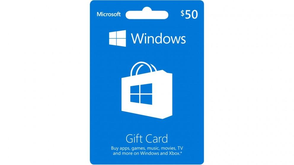 Microsoft Windows $50 POSA Card
