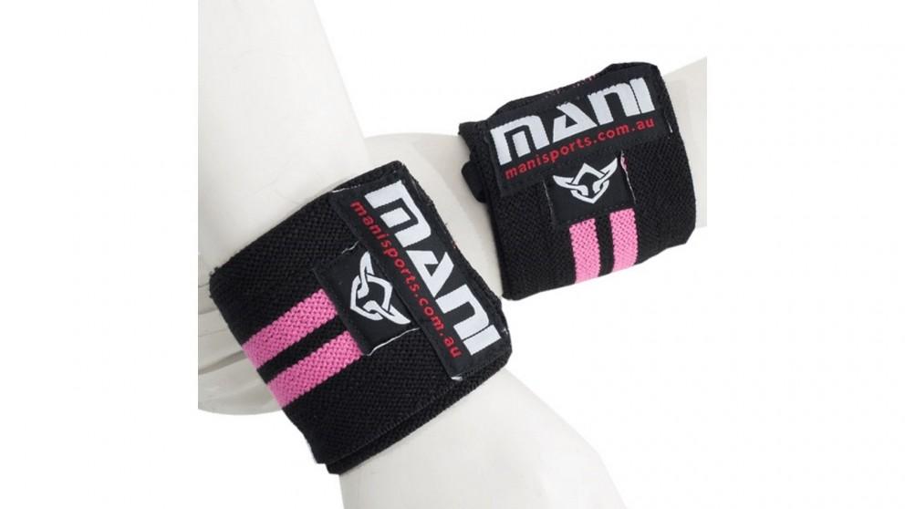 Mani Sports 14-inch Wrist Supports - Pink