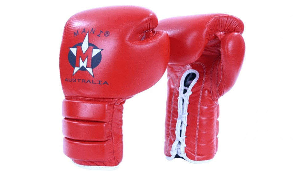 Mani Sports Lace-up Leather Boxing Glove