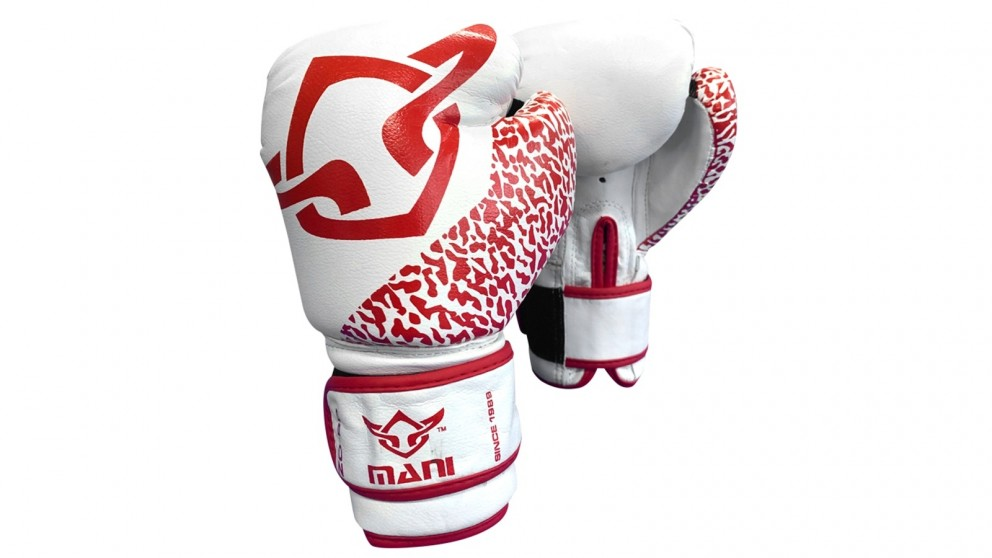 Mani Sports Kids Boxing Gloves - Red and White