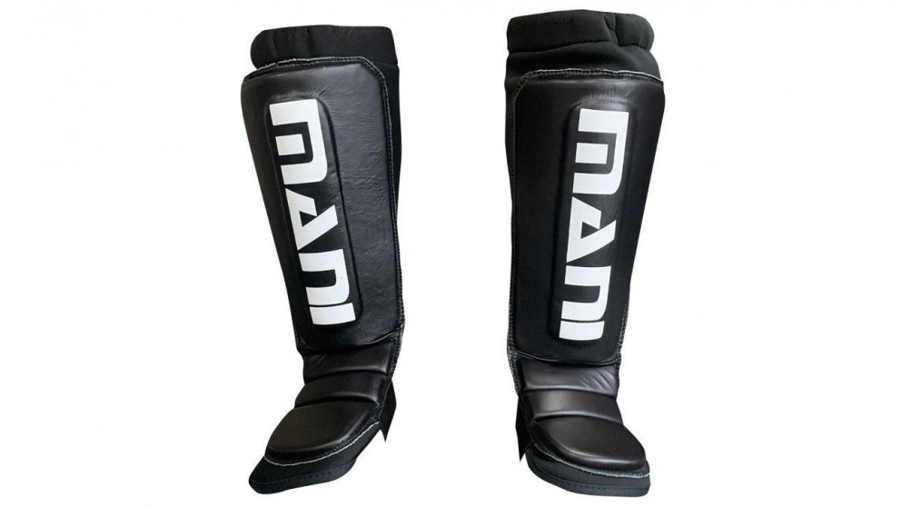 Mani Sports Neoprene Shin and Instep Guard Pads with Leather Front