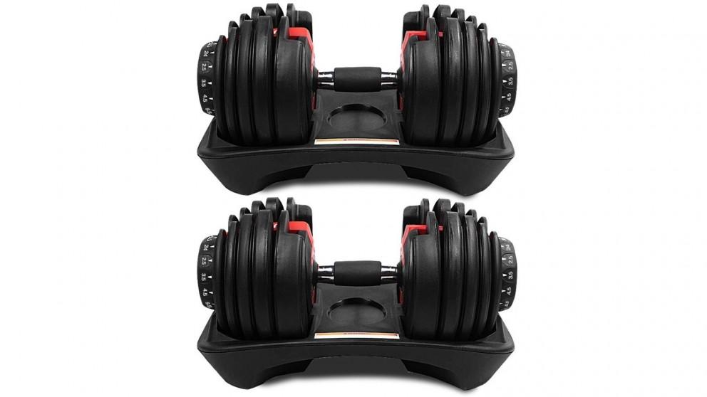 JMQ Fitness 2x Adjustable Dumbbell - 24kg