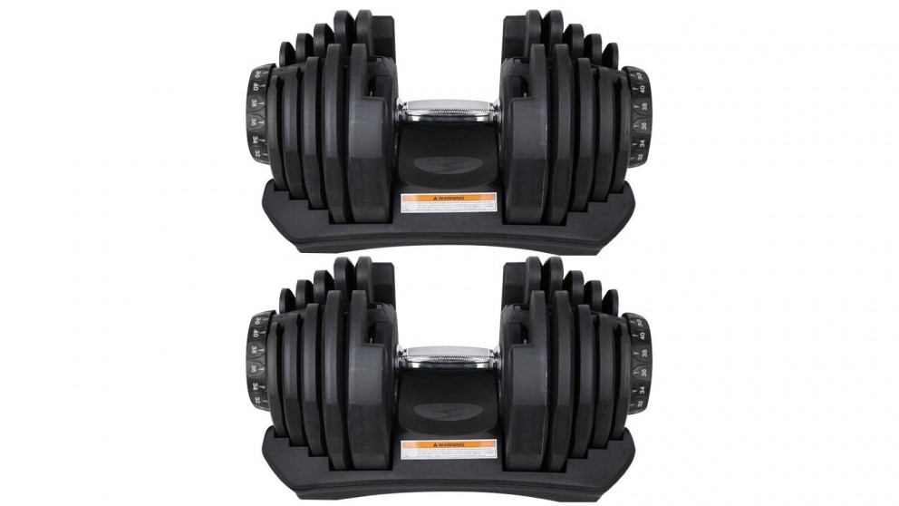 JMQ Fitness 2x Adjustable Dumbbell - 40kg