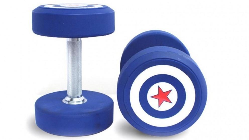 JMQ Captain America Dumbbells