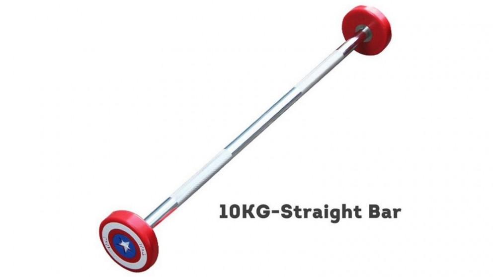 JMQ 10KG Captain America Straight Olympic Dumbbell Barbell - Red