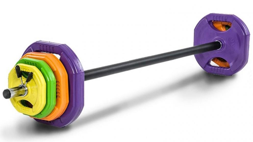 JMQ 140cm Barbell Bar Weights Set 40kg Weight Plates
