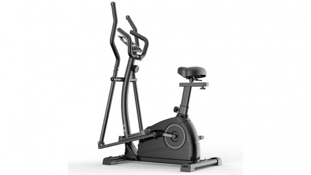 JMQ QM1001 Exercise Bike Elliptical Cross Trainer - Black