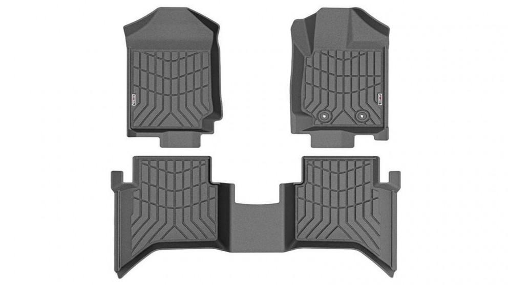 Kiwi Master 3D TPE Floor Mats Fit Ford Ranger Wildtrak Raptor PX PX2 2011-2019