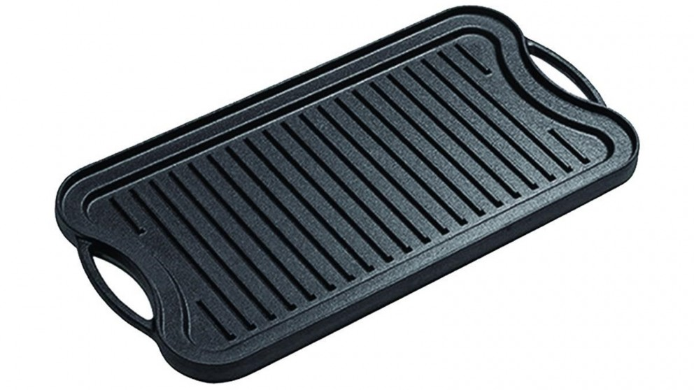 SOGA 50.8cm Stovetop Cast Iron Ridged Griddle Hot Plate Grill BBQ Pan
