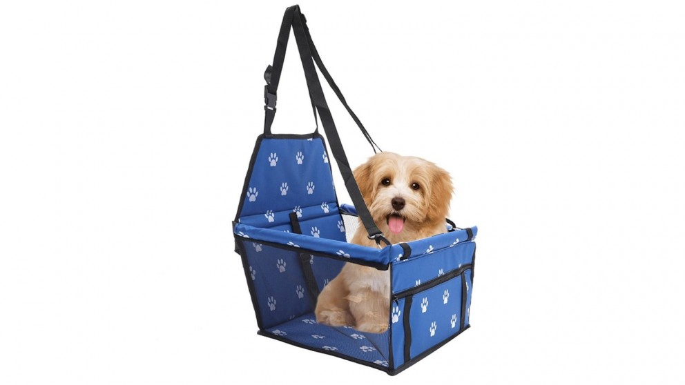 SOGA Waterproof Pet Booster Car Seat Safety Travel Portable Dog Carrier Bag - Blue
