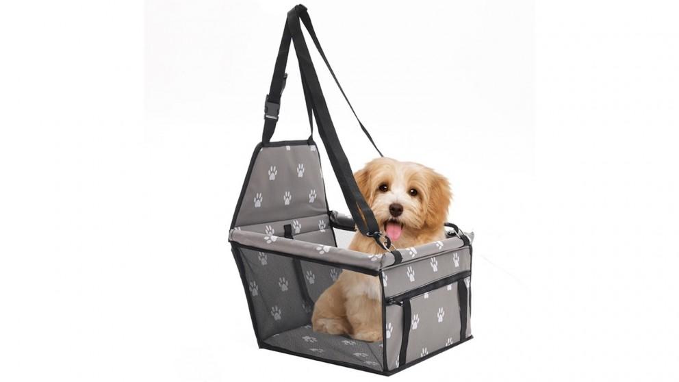 SOGA Waterproof Pet Booster Car Seat Safety Travel Portable Dog Carrier Bag - Grey