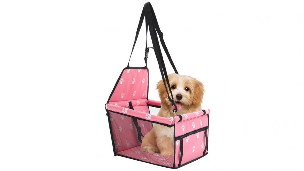 SOGA Waterproof Pet Booster Car Seat Safety Travel Portable Dog Carrier Bag - Pink