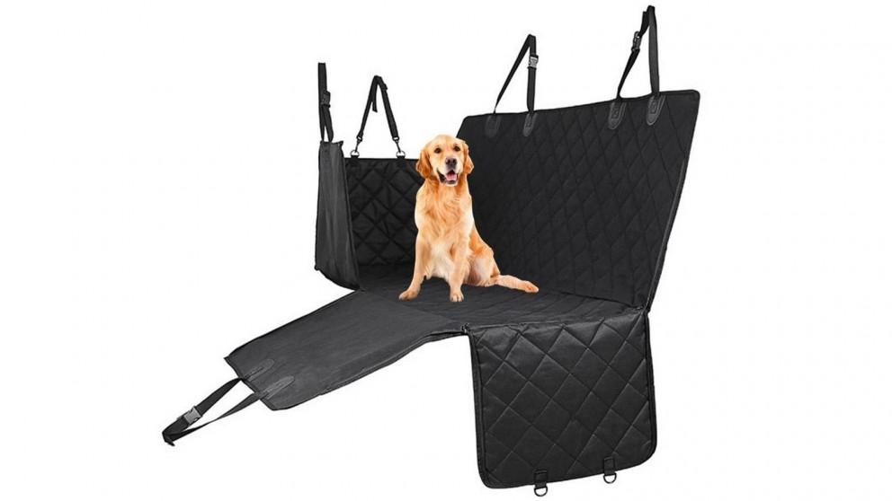 SOGA Non-Slip Cloth Waterproof Dog Car Cover Back Seat Protector - Black
