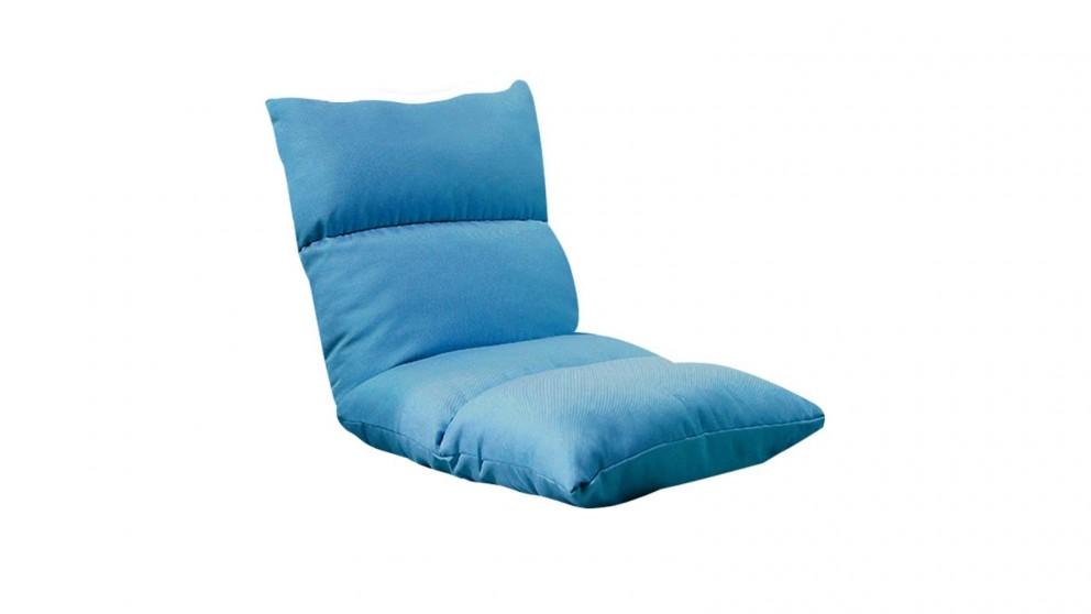 SOGA Floor Recliner Lazy Sofa - Blue