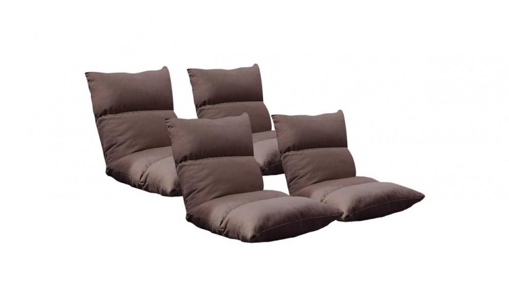SOGA 4x Floor Recliner Lazy Sofa - Coffee