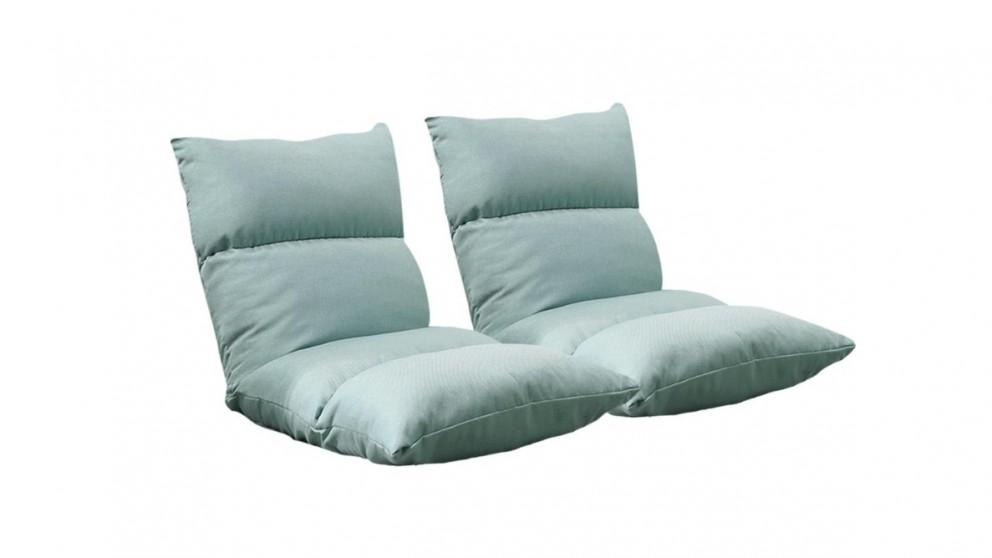 SOGA 2x Floor Recliner Lazy Sofa - Mint Green