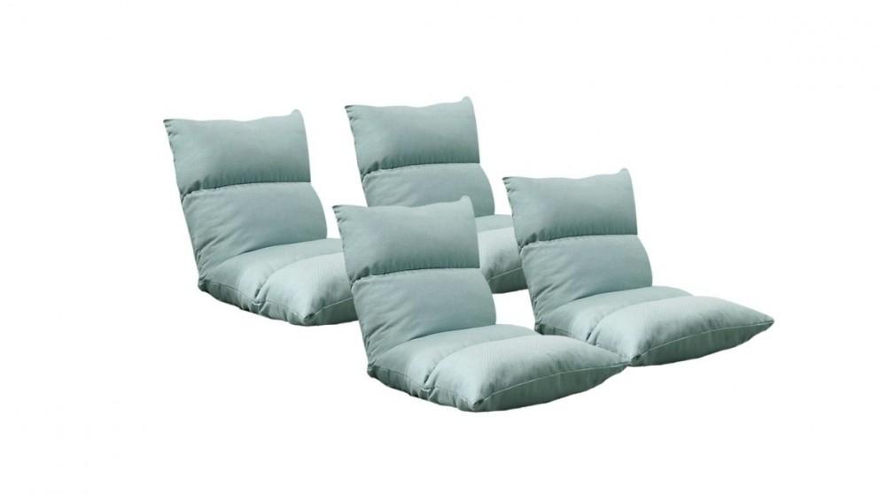 SOGA 4x Floor Recliner Lazy Sofa - Mint Green