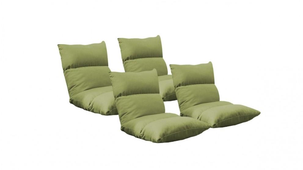 SOGA 4x Floor Recliner Lazy Sofa - Yellow Green